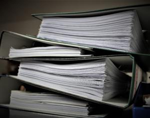 Organizar archivos en papel